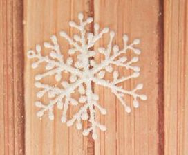 Украшение Снежинка 5,5см 1шт