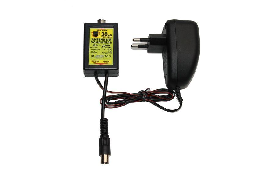 Усилитель антенный регулируемый МВ+ДМВ 30дБ 'Antex'