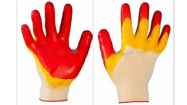 Перчатки трикотажные с 2-м полным латек. покрытием Россия