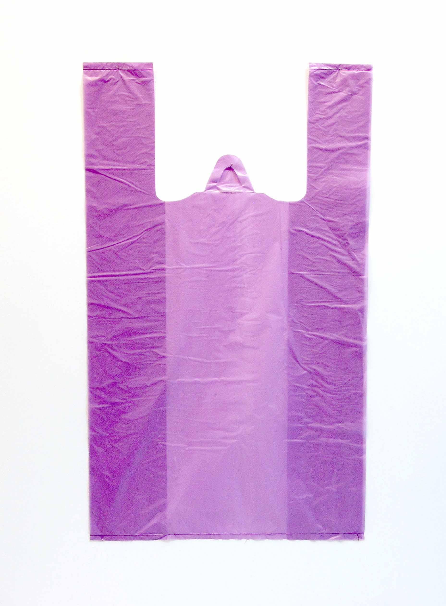 Пакет майка фиолетовый