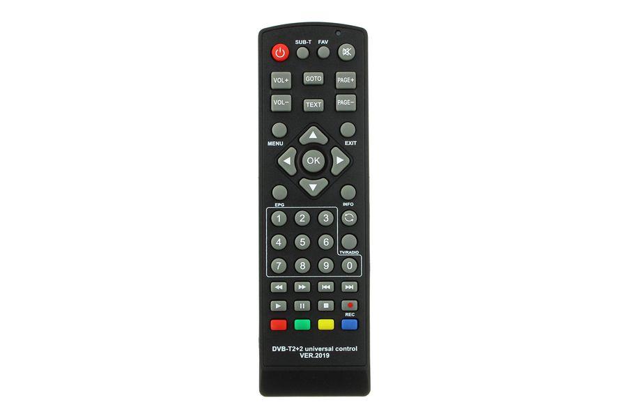 Пульт для DVB-T2+TV ресиверов универсальный, версия 2019