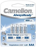 Аккумулятор Camelion ААА 800mAh Ni-MH ALWAYS READY 1шт