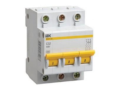 Автоматический выключатель 3Р 32А ВА47-29 4,5кА х-ка С TDM