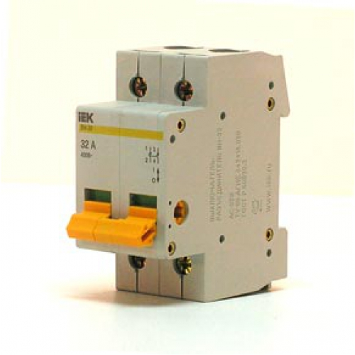 Автоматический выключатель 2Р 32А ВА47-63 4,5кА х-ка С TDM