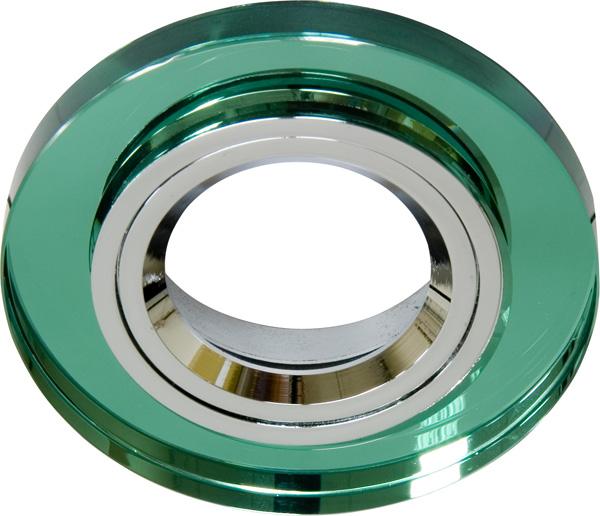 Светильник встраиваемый Feron 8060-2/(CD3004) зеленый-серебро MR-16 G5,3
