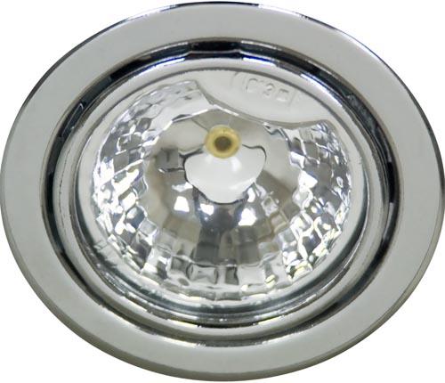 Светильник встраиваемый мебельный Feron DL3 JC G4,0 хром с лампой