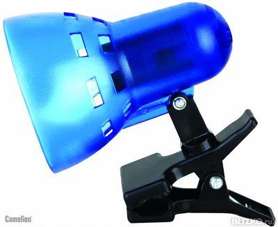 Светильник прищепка Camelion KD-304 синий без лампы 230V 40W