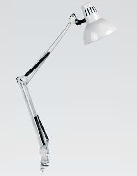 Светильник настольный Camelion KD-312 серебро 230V 60W
