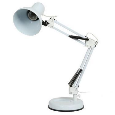 Светильник настольный Camelion KD-313 белый 230V 60W Е27
