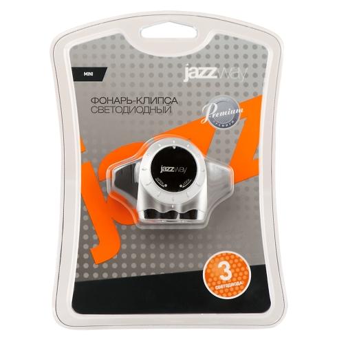 Фонарь JAZZway C1-L03+2CR2016 (клипс)