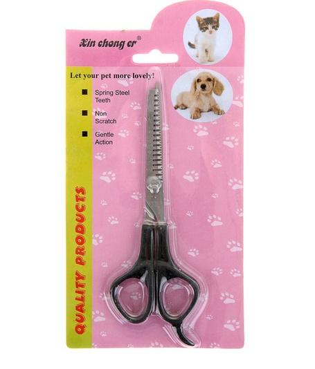 Ножницы филировочные для стрижки собак и кошек, пласт ручки