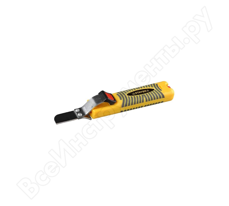 Клещи для зачистки изоляции с дополнительным лезвием 8-28мм 2-45303/STAYER