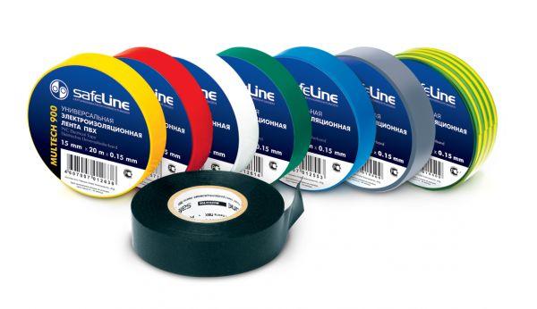 Изолента ПВХ Safeline 0,15мм*19мм*25м (в ассортименте)
