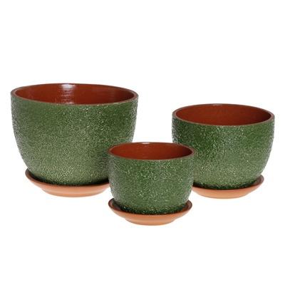 Кашпо керамическое Прима 2л зеленое