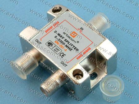 Разветвитель на 2TV  5-2300 MHz  АРА-251 Краб-2 с проход.пит. на все порты