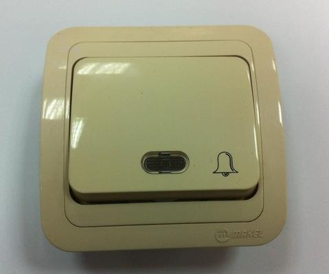 Кнопка звонка Makel с подсвет крем Распродажа