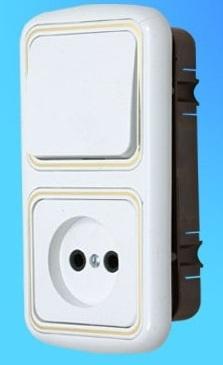 Блок СУ В-РЦ-533 1выкл+роз зол