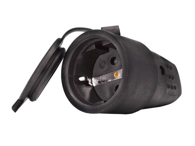 Штепсельное гнездо з/к Универсал каучук 16А 250В IP44 (еврослот) (11RUUN001-1)602228