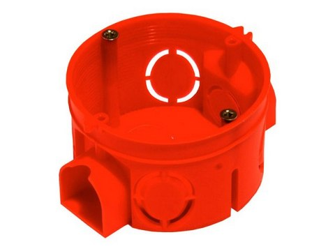 Подрозетник бетон, красный d=60 мм h=60 мм