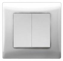 Выключатель 2-кл с/у Volsten  V01-11-V21-S (белый)