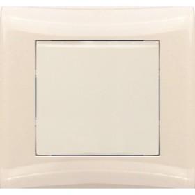 Выключатель 1-кл с/у Volsten V01-12-V11-S (кремовый)