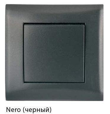 Выключатель 1-кл с/у Volsten V01-14-V11-M (черный)