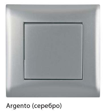 Выключатель 1-кл с/у Volsten V01-15-V11-M (серебро)