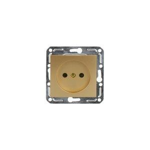 Розетка 1-гн с/у Volsten V01-16-R12-M (золото)