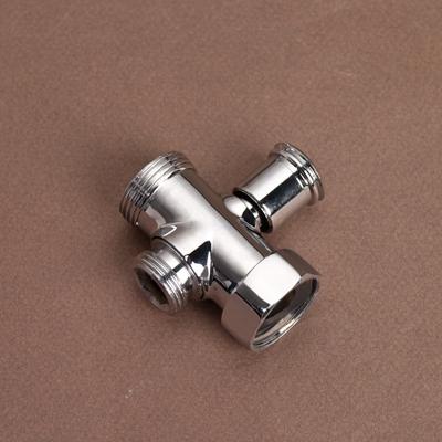 Дивертор  для смесителя цинк, пружин.перекл, хром