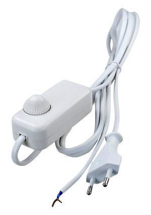 Сетевой шнур FERON c диммером белый DM103-200W 1.5+0.5м 230V