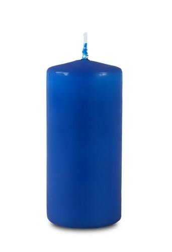 Свеча пеньковая 40*90мм синяя