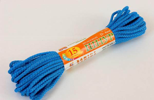Шнур бельевой 4мм*15м цветной DOMINA